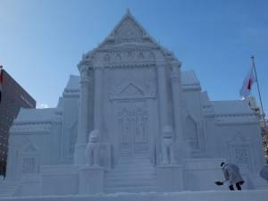 泰國大理石寺雪雕