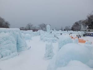 會場雖不大,但可以見到各式各樣的冰製主題區