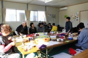 中華民國紅十字會與日本赤十字會人員一同訪視組合屋居民