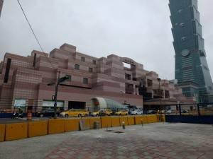 建設中の101/世界貿易センター駅。
