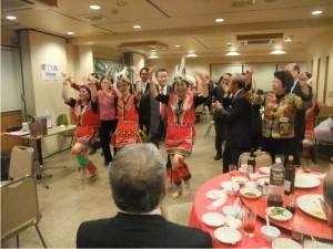 山梨台灣總會原住民舞踊團表亦前往客家文化協會的活動會場演出