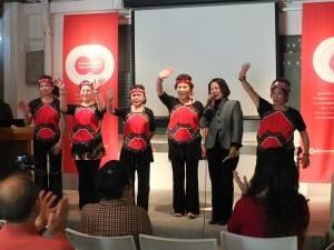 山梨台灣總會會長余麗玉(右2)特別到場致詞,表示該會致力於台日文化交流