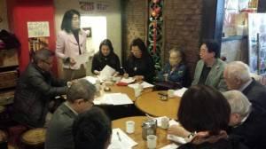 日本媽祖會會長曾鳳蘭在理監事會議上表示3月16日將舉辦新年會暨35周年慶祝會,會廣邀百位賓客參加