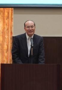 駐日代表處顧問兼台北文化中心主任朱文清到場致詞