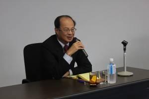 講演を行った台北駐日経済文化代表処・沈斯淳代表