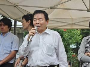 台灣同鄉會會長蘇成宗致詞感謝許多僑領出錢出力,協助活動舉辦