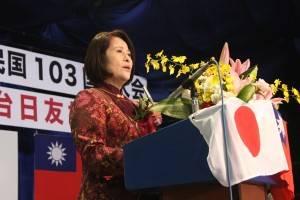 山梨台湾総会の余麗玉会長