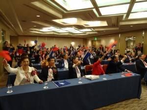 全體高呼凍蒜  為國民黨候選人加油