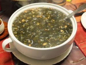 紫菜吻仔魚湯(岩海苔とシラスのスープ)