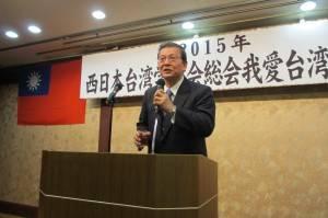 乾杯の発声、福岡県中華総会・王子昇僑務委員