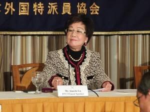 台湾新聞のインタビューに答えた台湾の呂秀蓮元副総統