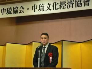 中琉文化經濟協會理事長謝國棟希望能增進文化體育等交流
