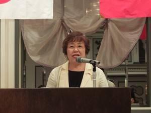 同協会をさらに一歩促進したいと語った上村直子会長
