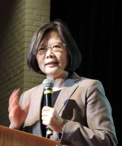 民進党の蔡英文主席(提供:中央社)