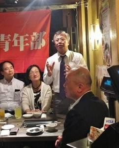 駐日副代表陳調和特別出席青年部的親睦餐會,鼓勵僑青成為僑界的中流砥柱
