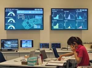 中央控制中心可管控藤澤智慧城內的安全和掌握住戶用電狀況