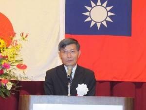 駐那霸辦事處處長蘇啟誠致詞盼日方支持台灣加入TPP和RCEP