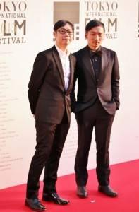 導演林書宇(左)五月天成員石頭(右)