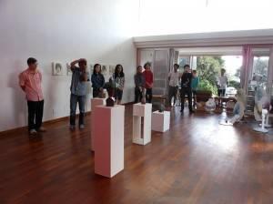 現場展出多位台灣藝術家的作品