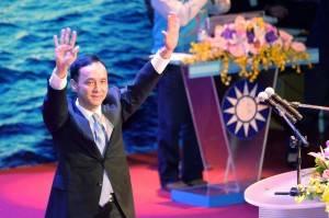 国民党の次期総統候補に擁立した朱立倫主席(提供:中央社)