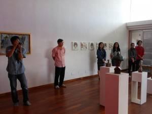駐那霸辦事處處長蘇啟誠出席致詞,盼透過美術交流增進雙方人民友誼