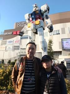 オープンコースの周毅明さん(左)とジュニアコースの陳力維さん