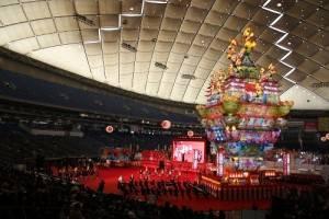 秋田能代七夕的「天空不夜城」山車高達24﹒1公尺,首度參加東京故鄉祭