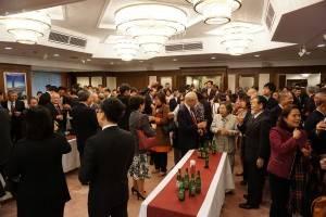 新年会には日台における各界関係者らが出席した