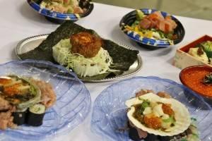 只有在東京故鄉祭才吃得到的特製重量級壽司