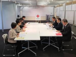 日本赤十字社の本社にて