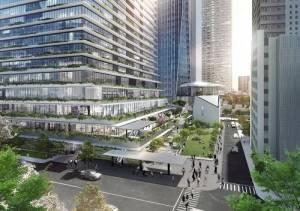 虎之門Hills商業大廈低層樓將結合巴士轉運站,成為交通中樞(資料提供:森大廈株式會社)