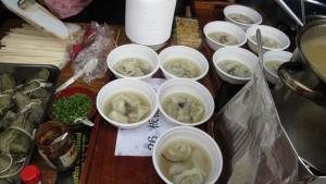 素食餛飩湯口味清爽