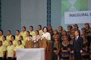 蔡英文今天正式宣誓就任中華民國第14任總統,並於慶祝大會上發表就職演說