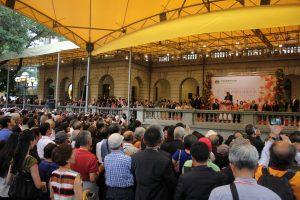 同式典には、全世界の華僑ら約1800人が出席した。