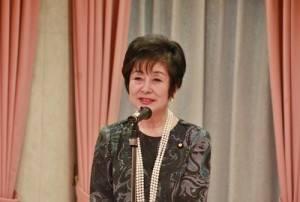 日華議員懇談會副會長山東昭子出席致詞