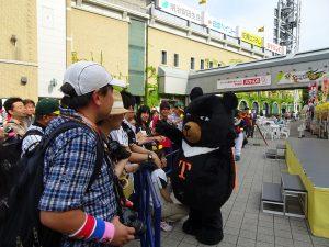 阪神甲子園球場台灣日活動、台灣觀光協會吉祥物『台灣喔熊』與球迷互動