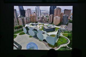 會中展示多張台中國家歌劇院的照片