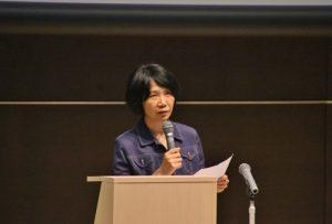台灣作家陳柔縉在會中介紹日治時代日本商人引進台灣的行銷手法