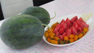 現採西瓜 小番茄