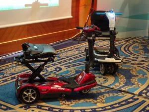 台灣維順工業股份有限公司發表的小型折疊是代步車