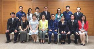小野副知事(前列右から4人目)を中心に、台湾・熊本の末永い 友好継続・発展を願って