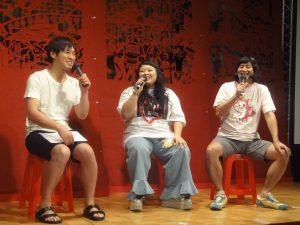 渡辺直美さん(中央)、ハイキングウォーキングによるトークショー