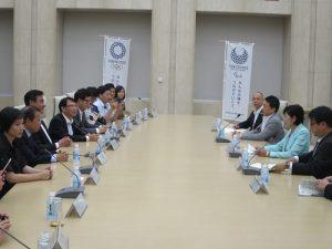 立院訪團造訪東京都廳,與東京都知事小池百合子進行交流