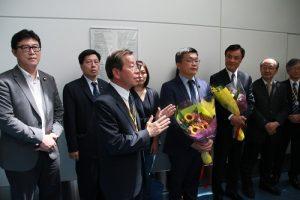 駐日代表謝長廷致詞表示立院訪團訪日代表對台日關係的重視