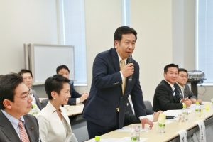 日本民進黨幹事長枝野幸男等該黨約20位國會議員與立院訪團進行會談