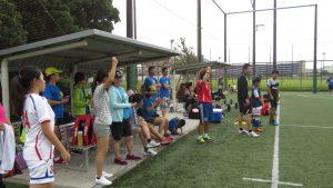 台灣家長在場邊熱心聲援
