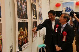 杉並區區長田中良陪同駐日代表謝長廷了解杉並區和台灣各地的交流現況