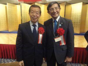 左:謝代表、右:仁坂知事