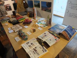 会場で展示された屏東県の特産品