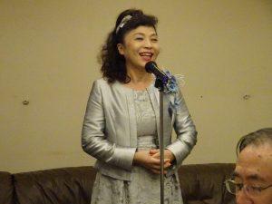 僑務委員謝美香感謝大家在第23屆世界台商總會總會長選舉中支持相挺
